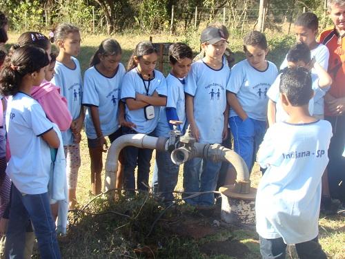 Crianças do Espaço Amigo visitam Reservatório de Água e Lagoa de Tratamento de Indiana